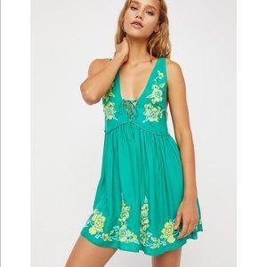 Free People Aida Mini Slip Dress